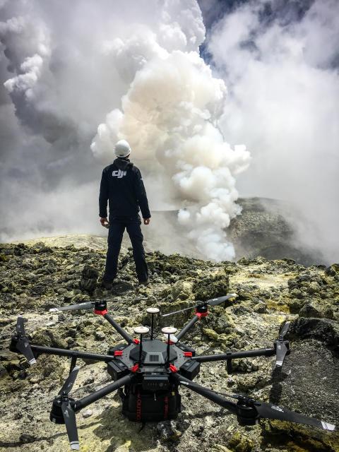DJI Drones Make Breakthrough in Volcano Research
