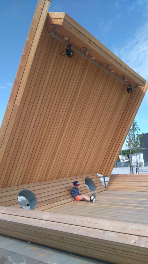 Invigning av ett nytt offentligt konstverk i Lund