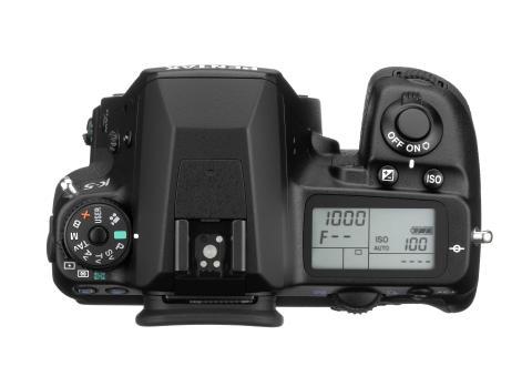 Pentax K-5 kamerahus ovanifrån