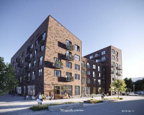 Veidekke bygger 122 unika bostadsrätter åt HSB Göteborg