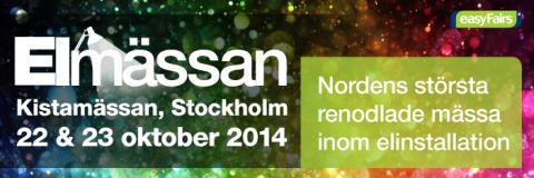 Hager på Elmässan i Stockholm 22-23 oktober 2014