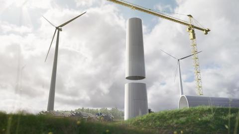 Vindkraftsteknologi i trä tar in 5,4 miljoner i kapital