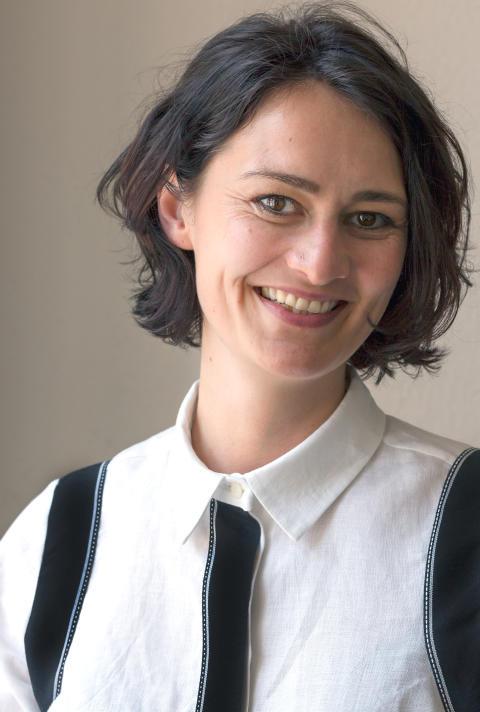 Margrethe Odgaard under Tillkännagivandet på Röhsska museet 2016