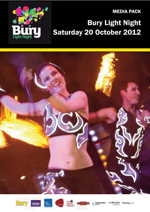 Your media pack for Bury Light Night: Saturday 20 October 2012