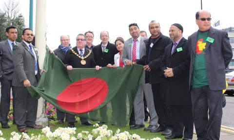 Flag-raising celebrates Independence Day of Bangladesh