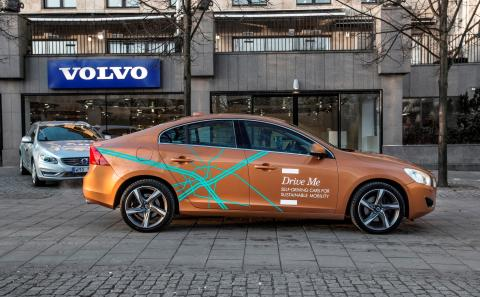 """Förarlösa bilar i projektet """"Drive me"""". Foto: Volvo Car Group"""