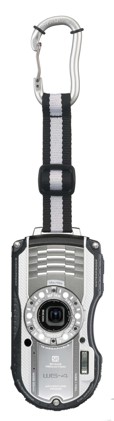 Ricoh WG-4 sølv med karabinkrok