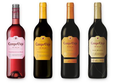 Das Campo Viejo-Produktportfolio von Pernod Ricard Deutschland