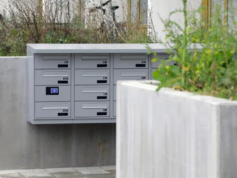 Renz elektroniske postkasseanlæg er en del af Gellerupparkens forvandling