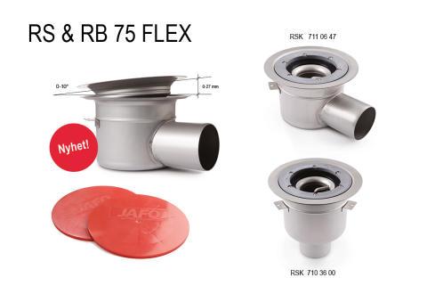JAFO Rostfria golvbrunnar RS & RB FLEX