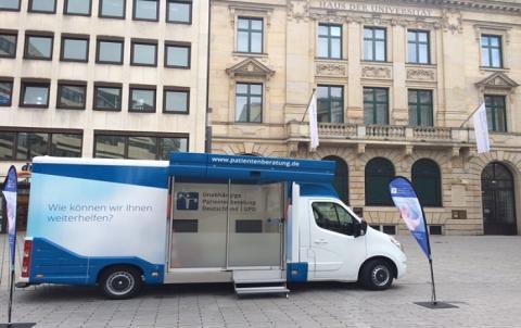 Beratungsmobil der Unabhängigen Patientenberatung kommt am 7. Februar nach Düsseldorf.