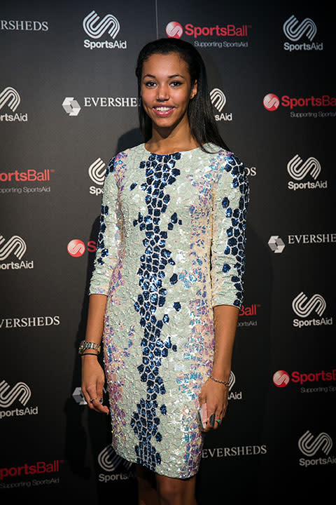 Morgan Lake at SportsAid's SportsBall 2014
