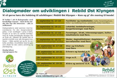Dialogmøder om udviklingen i Rebild Øst Klyngen