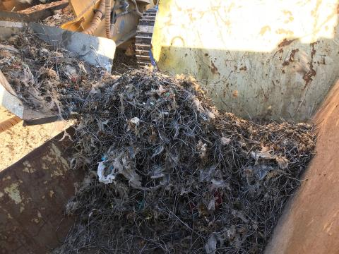 Krossat och sorterat ragg - metallfraktion