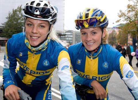Landsvägscyklisterna Emma Johansson och Emilia Fahlin är färdiga för OS