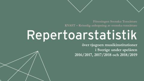 Ny statistik: Positiv men långsam utveckling av konstmusikrepertoaren i Sverige