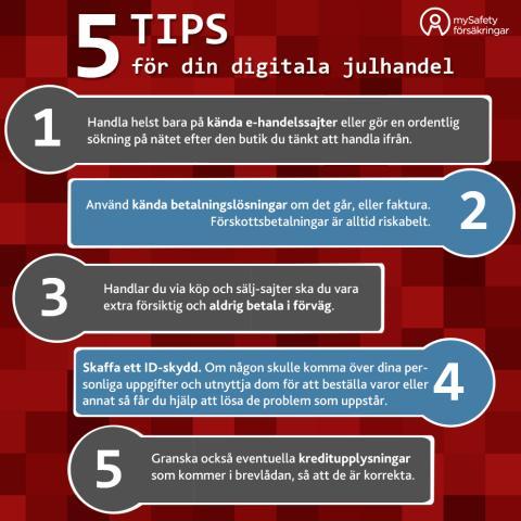 5 tips för att skydda dig digitalt i julhandeln