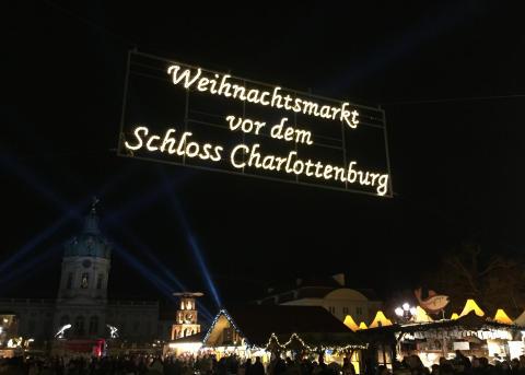 Julemarked på Schloss Charlottenburg i Berlin