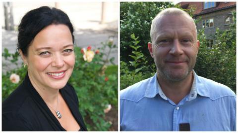 To nye redaksjonssjefer i Cappelen Damm – Finn Totland og Marianne Ihlen.