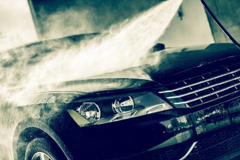 Ikke vask bil med varmt vann