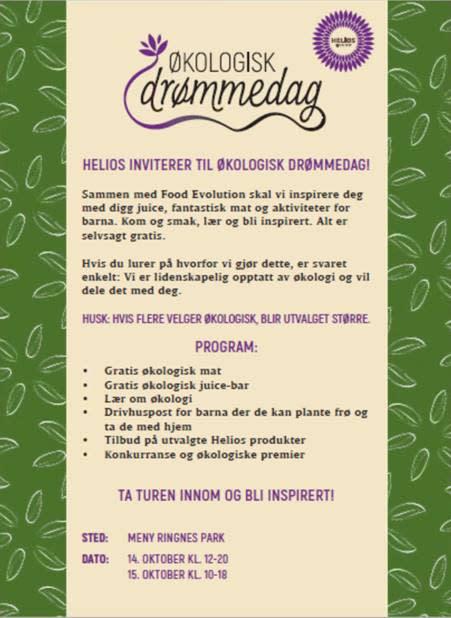 Helios inviterer til økologisk drømmedag!