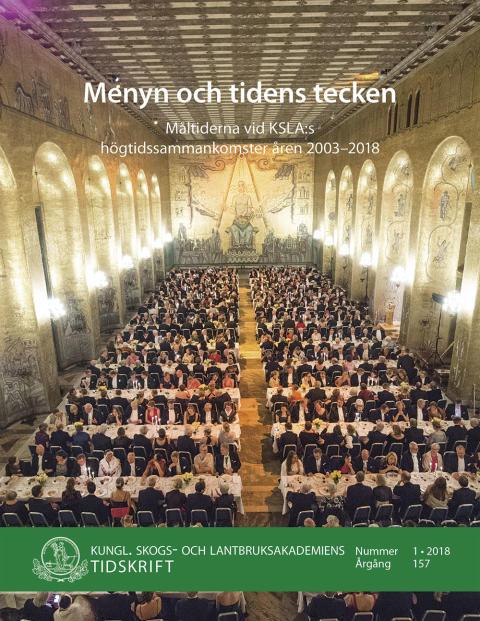 Ny skrift: Menyn och tidens tecken (KSLAT 1-2018)