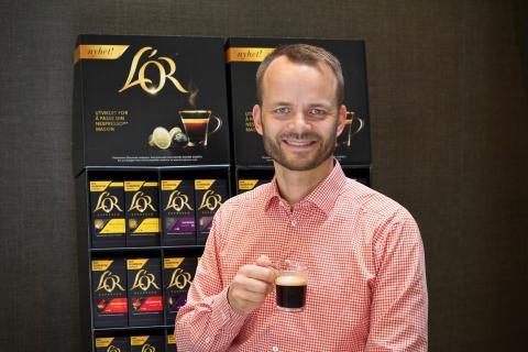 L'OR – eksklusive kaffekapsler til Nespresso-maskiner®  - lanseres nå  i dagligvarehandelen!