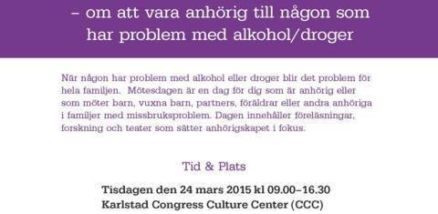 Mötesdag om anhöriga till personer med missbruksproblem
