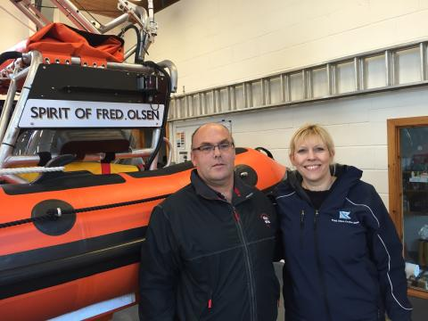 Fred. Olsen Cruise Lines pays Kyle of Lochalsh RNLI a special visit!