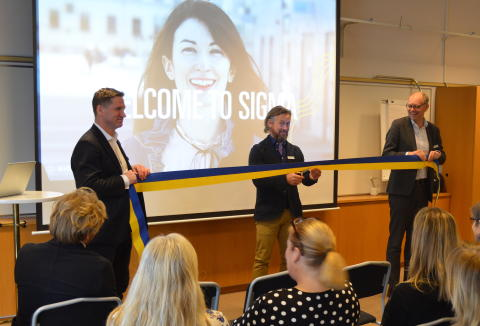 Inauguration of Sigma's office in Södertälje
