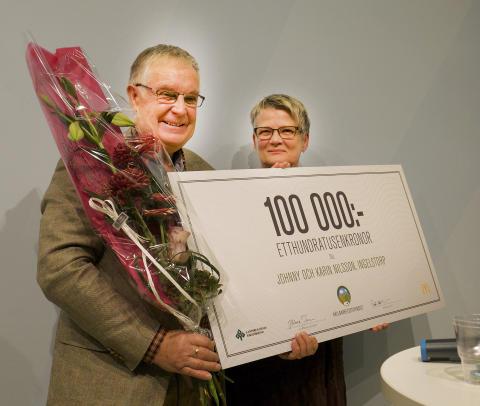 – Pengarna ska vi använda för att prova nya grönsaker, säger Johnny och Karin Nilsson.