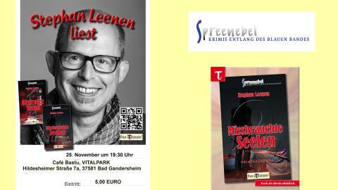 Pax et Bonum Stephan Leenen liest am 25. November um 19:30 Uhr im Café Bastu, VITALPARK