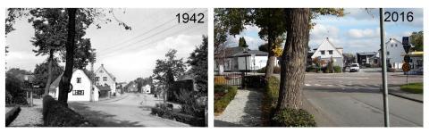 Mejerigatan i Veberöd - då och nu