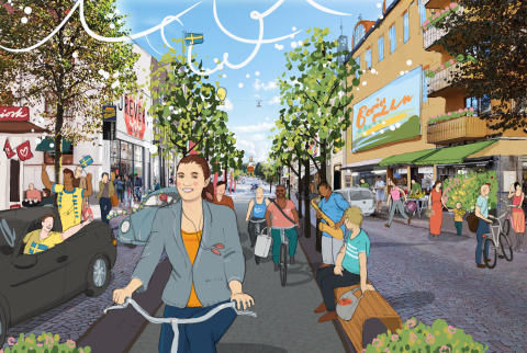 Nya visionsbilder ska utveckla Borås cityhandel