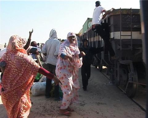 Ursula Biemann, 01_DESERT TRUCK TERMINAL, 02_DESERT RADIO DRONE, 03_INTERVIEW ADAWA, 07_IRON ORE TRAIN, 09_DEPORTATION PRISON LAAYOUNE ur Sahara Chronicle (2006-2007)