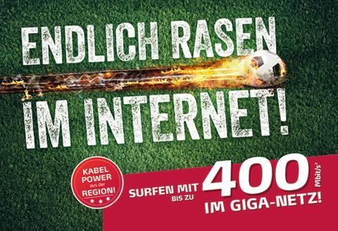 ENDLICH RASEN IM INTERNET!