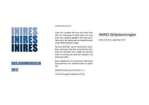 INIRES Skiljedomsregler 2017
