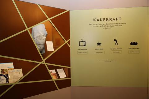 Kaufkraft in der DDR im Zeitgeschichtlichen Forum Leipzig