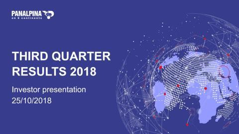 Nine Months Results 2018 – Investor Presentation