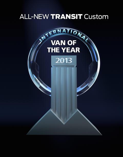 Nye Ford Transit Custom ble nylig kåret til årets varebil i Europa
