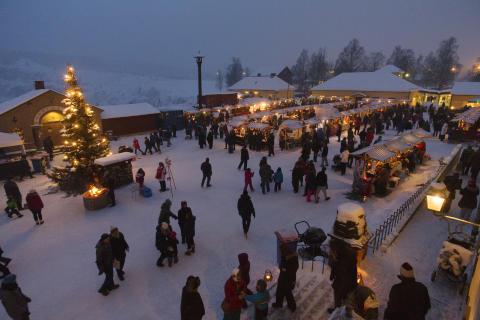 Julmarknad vid Falu Gruva