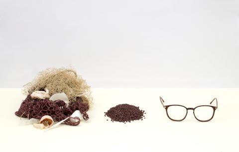 Återvunnen havsplast i Synsams Groups nya hållbara glasögonkollektion