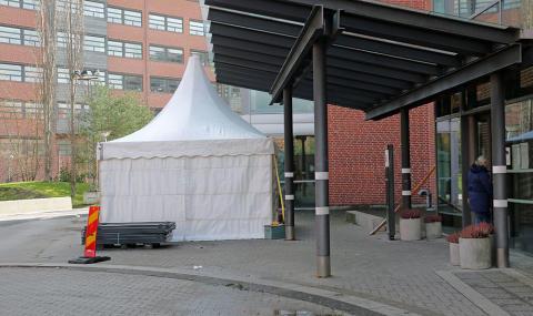 Tält utanför barnakutmottagningarna i Malmö och Lund hindrar smittspridning