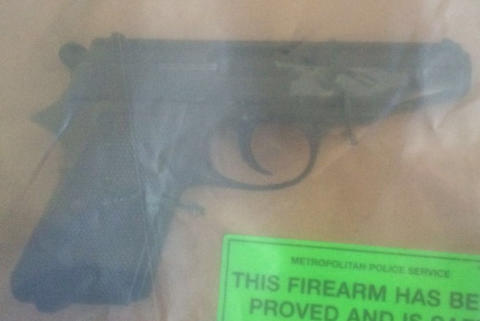 Firearm recovered from an address in Brixton