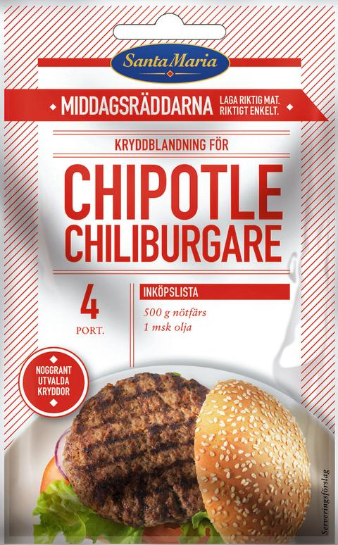 Chipotle chiliburgare