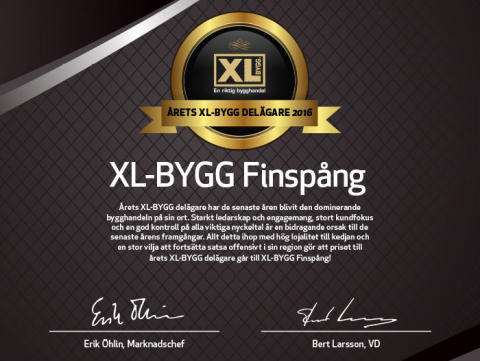 Årets XL-BYGG delagare 2016.