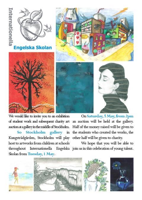 Engelska Skolan auktionerar ut elevers konstverk till förmån för Tibet