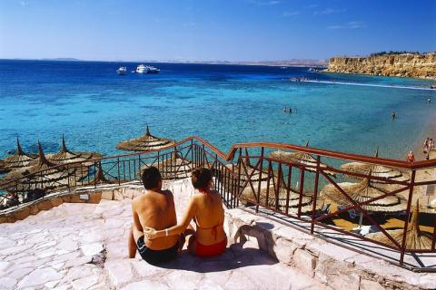 Rolig i feriebyene i Egypt