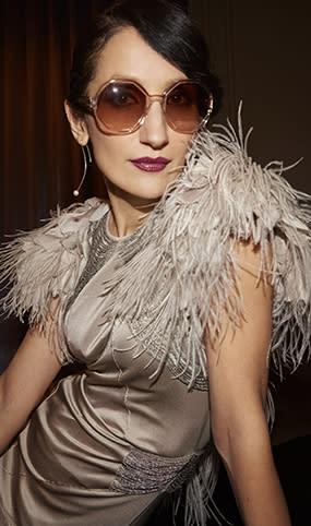 Marina Kereklidou in her Marc Jacobs