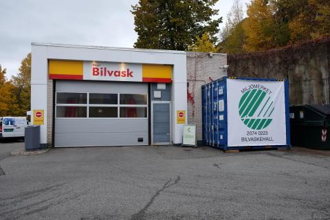 Shell Solbråveien i Asker - Norges første svanemerkede bilvaskehall
